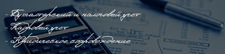 Услуги бухгалтерского учета и сдача отчетности