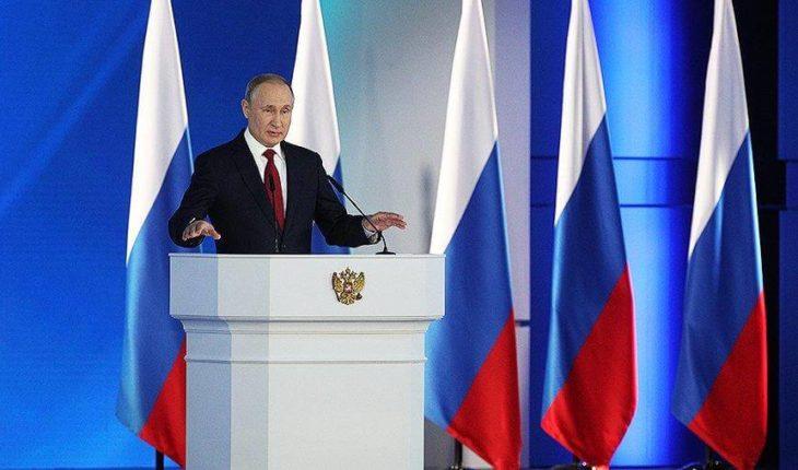 Владимир Путин выступил с обращением к Федеральному Собранию